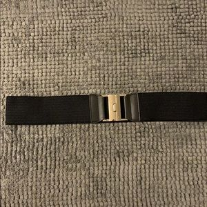 Beautiful black elastic belt.